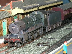 Solihull Model Railway Circle - 1020 'County of Monmouth' in BR Green