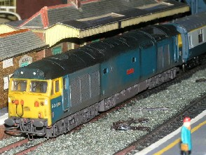 Solihull Model Railway Circle - 50014 'Warspite' BR Blue