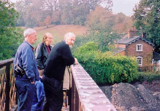 Solihull Model Railway Circle - Club members admire the engine shed and yard at Bridgnorth, Severn Valley Railway 12th October 2003