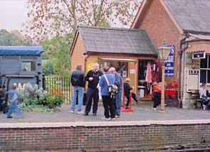 Solihull Model Railway Circle - Club members at Highley, Severn Valley Railway 12th October 2003